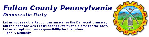 Logo for Fulton PA Democrats
